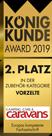 Brand-Zelte - König Kunde 2. Platz 2019